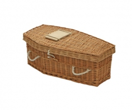 Traditional Infant Willow Baby Coffin -Snowdrop