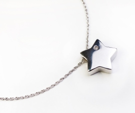 Shining Star Sterling Silver Cremation Pendant