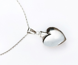 Silver Heart Cremation Pendant
