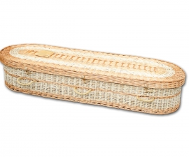 Willow & Sweetcorn Leaf Coffin
