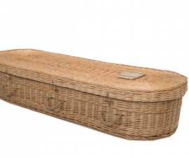 Wicker Oval Coffin