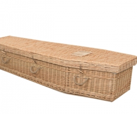 Wicker Traditional Coffin