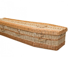 Willow & Sweetcorn Leaf Traditional Coffin
