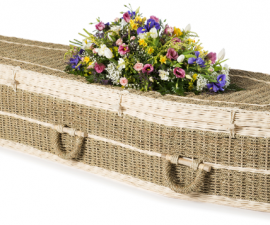 Natural Pandanus Coffin