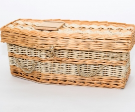 Traditional Baby Willow & Natural Grasses Coffin - Sweet Pea