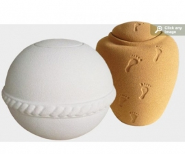 Sand and Gelatine Earth Friendly Urns