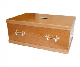 Oak Veneer Pet Coffin - My Buddy Coffin